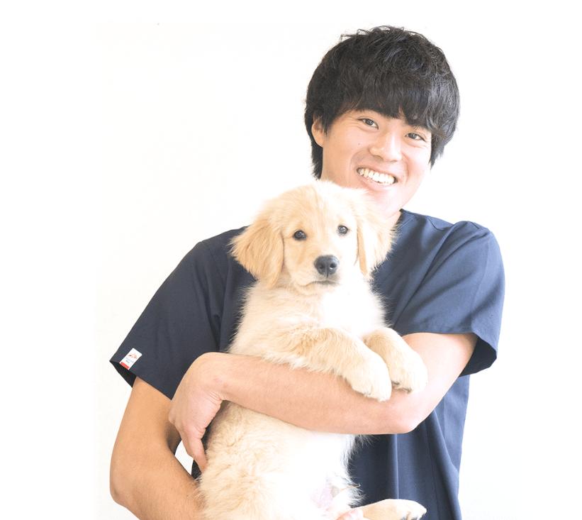 はじめまして、獣医師の田渋と愛犬からあげです。趣味は登山とボルダリングです。獣医師としても、よりたくさんの動物とそのご家族が元気に笑顔で暮らせるよう、とことん登り詰めていきます!